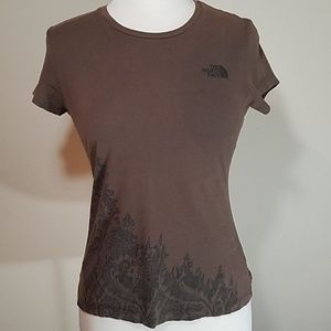 The North Face Brown short Sleeve Tee Shirt sm